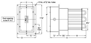 Air Duct DH Series Tubular Heater