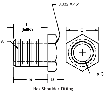 hex shoulder fitting